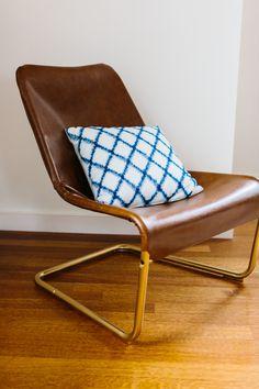 ikea hack vintage look lounge chair van leer roomed