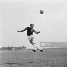West Ham United player, Bobby Moore , heads the ball, during a training session at the new ground at Chadwell Heath. Get premium, high resolution news photos at Getty Images Football Field, Football Soccer, Soccer Ball, Team Player, Football Players, West Ham United Fc, Bobby Moore, Making The Team, Football Memorabilia