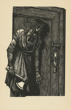 by Fritz Eichenberg from the illustrated _Crime & Punishment_