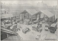 The Growers' Section of Borough Market, circa 1930 Old Pictures, Old Photos, London Market, Old London, Best Cities, Abandoned Places, Marketing, History, City