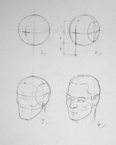 Constructing the head from a sphere, by Andrew Loomis