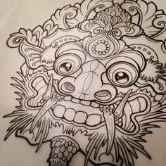 #barong #tattoo #tattoos #paintedlotus #victoriabc