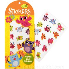 I WANT THIS: HAPPY OWL STICKERS
