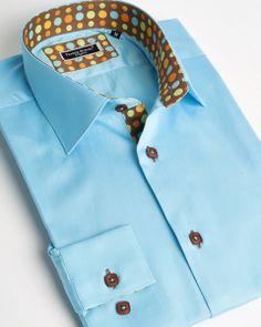 Turquoise blue shirt for men