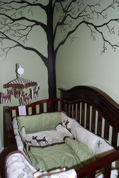 Unique nursery themes for boys deer and forest nursery themes baby nurs Baby Bedroom, Baby Boy Rooms, Baby Boy Nurseries, Nursery Room, Girl Nursery, Kids Bedroom, Deer Nursery, Chic Nursery, Baby Bedding