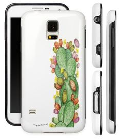 Cover Samsung Galaxy S5, laterali antiurto, design Fichi d'India,disponibile per tutti i modelli di smartphone.