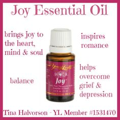 Joy Essential Oil  Introduction to Essential Oils www.essentialoillover.com #essentialoillover #youngliving #oilyfamilies