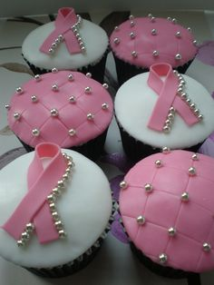 Breast Cancer Care Cupcakes WILL DO THESE THIS YEAR FOR AWARENESS MONTH