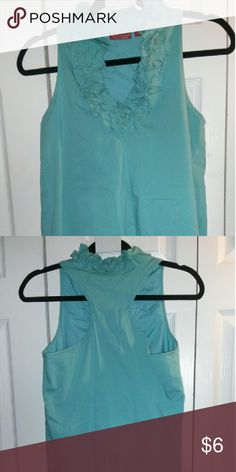 Dress Teal above the knee dress with ruffles New York & Company Dresses Strapless