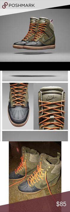 best authentic d04be 6944f Basket Femme 2017 Description Nike Dunk Sky Hi Sneakerboot Wedge. I m kinda  torn between liking and disliking them.