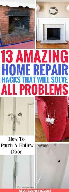 These diy home repair hacks are AMAZING! Seriously, the BEST thing I've read yet. So glad to have found these easy ways to repair the things in my home. Definitely going to try these soon and get my home decor in shape again! Home Renovation, Home Remodeling, Carpet Padding, Diy Home Repair, Home Repairs, Unique Home Decor, Home Improvement Projects, Spring Cleaning, Cleaning Tips