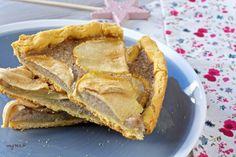 Une tarte aux pommes aux graines de sarrasin et bananes (vegan)