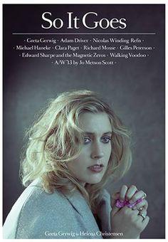 Greta Gerwig Covers So It Goes Magazine