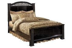 """The Constellations Poster Bed from Ashley Furniture HomeStore (AFHS.com). Alive with ornate detailing and a rich traditional beauty, the """"Constellations"""" bedroom collection takes sophisticated style to the next level with a collection sure to enhance the beauty of any bedroom decor."""