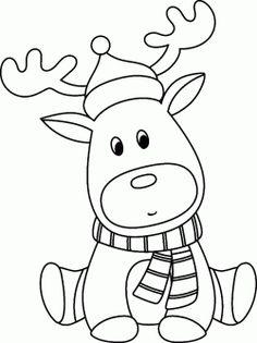 Geyik Ceylan Boyama Sayfası, Deer Gazelle Coloring Pages Christmas Card Crafts, Christmas Drawing, Christmas Colors, Christmas Art, Christmas Projects, Cute Coloring Pages, Animal Coloring Pages, Coloring For Kids, Coloring Books