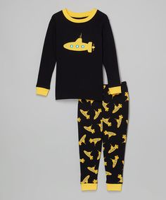 Another great find on #zulily! Leveret Black & Yellow Submarine Pajama Set - Infant, Toddler & Boys by Leveret #zulilyfinds