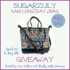 Sugarzuly Sari LongDay Bag #Giveaway!  Win this stylish $160 bag!
