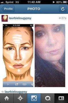 Conture face make up