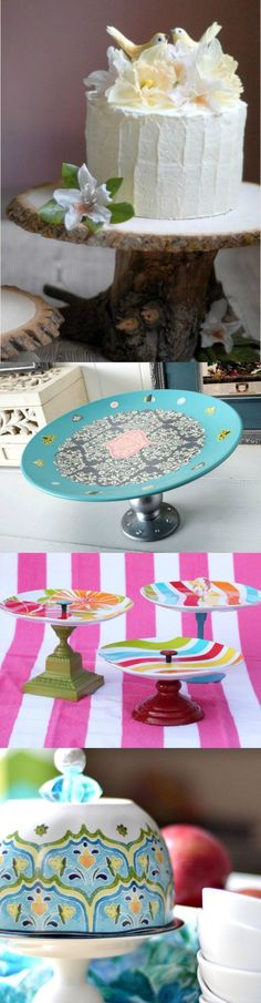 Have you wanted to learn how to make a DIY cake stand? They are easier than you think - here are 10 inspirational ideas!