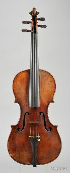 44: Italian Violin, Pietro Guarneri, Venice, 1734, bear : Lot 44