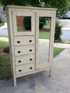 Shabby Chic Chalk Painted Chifferobe, $379 at Easy Street Resale