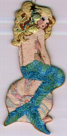 Joan Thomasson - Mermaid (Seated on Shell) Kit Price$48.00 Canvas Price$28.00