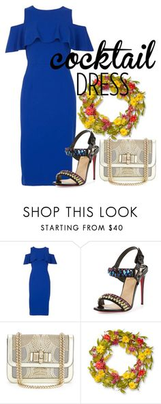 """telex"" by hanii-omachiss ❤ liked on Polyvore featuring Dorothy Perkins, Christian Louboutin and National Tree Company"