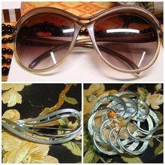 Bigiotteria vintage, occhiali Dior