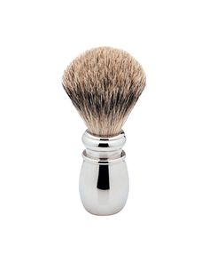 The Ice Chrome Pure Badger Brush. This brush is a limited edition model, in cooperation with Erbe of Germany. The heavy, polished chrome handle features a knot of genuine pure badger hair. Available at House of Knives. Shaving Brush, Wet Shaving, Shaving Cream, Best Shave, Close Shave, Chrome Handles, Polished Chrome, Brushes