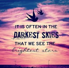 When we see the brightest stars...