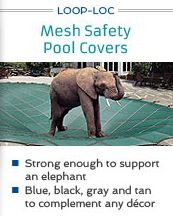 """It's never too early to plan for the fall/winter. #LOOPLOC has got your pool covered. Protect your family with the only mesh pool cover that passed the """"#elephant test""""!"""