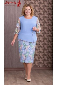Платье женское AS-637 Plus Dresses, Casual Dresses, Fashion Dresses, Lace Dress Styles, Office Outfits Women, Women's Fashion Leggings, Lace Dress With Sleeves, Classy Dress, Dress Patterns