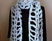 Crochet Scarf Pattern - Super fun, quick and easy project, chunky cowl, extra long, urban uptown scarf, Ten Foot Trellis Scarf