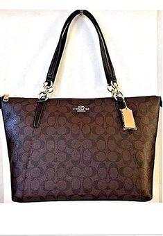 5cf7597b8f Amazon.com  Coach Ava Tote in Signature Brown Black Gold F58318  Shoes