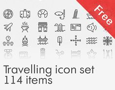 """Check out this @Behance project: """"Free Travelling icon set"""" https://www.behance.net/gallery/30352239/Free-Travelling-icon-set"""