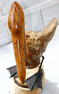 Wooden Abstract Pelican Statue, Driftwood art, Beach house decor, Cedar Woodcarving Pelican, Bird on Etsy, $400.00