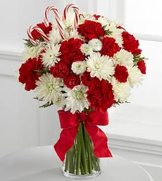 Candied Christmas Holiday Bouquet - 19 Stems - VASE INCLUDED