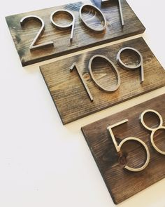 Rustic Modern Address Plaques / Rustic Modern House Number Plaque / Front Porch decor / Curb appeal / SparrowandScout / Etsy