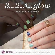 These Glow Wraps are only around for a short time .. limited supplies ..They are called Midnight Madness and Make Some Noise .  https://lanetteperrin.jamberry.com/us/en/shop/shop/for/featured#.VmILo_mDFBd