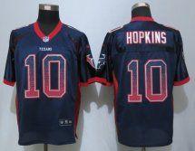 Houston Texans #10 Hopkins Drift Fashion Blue Elite