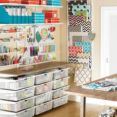 Great craft studio organization idea from the Container Store.