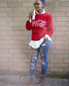 . #sincerelycharlie #foreve21 #f21xme #regram #nyandcompanyskinnies #leopard #cocacola #fabover45 #funfashion #fashiononabudget #didyoumissme? #sweaterweather