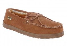 Sheepskin Slippers for Women: RJs Fuzzies Moccasin Slippers in Chestnut