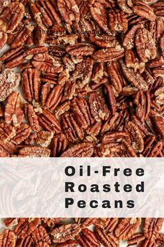 These Oil-Free Roasted Pecans make a delicious plant-based holiday appetizer perfect for vegans and non-vegans alike. #pecans #oilfreepecans #holiday #recipes #vegan #glutenfree #oilfree #sugarfree #plantbased #oilfreevegan #sugarfreevegan #glutenfreevegan #wfpb #forksoverknives #catholic #catholiclife #theplantbasedcatholic
