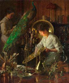 Thomas Frederick Mason Sheard - Polishing Silver