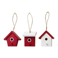 VINTER 2016 Hanging decoration, birdhouse red
