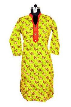 Women Boho Dress Indian Pakistani Designer Kurti Fashion Long Tunic SZ_XL B11J