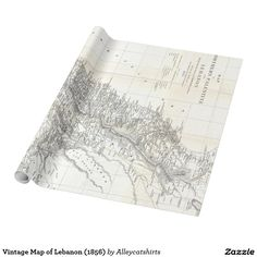 Vintage Map of Lebanon (1856) Wrapping Paper