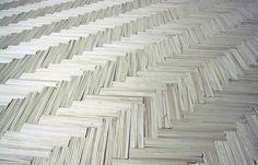 Jean Shin, wooden floor, 2002, made of chopsticks.