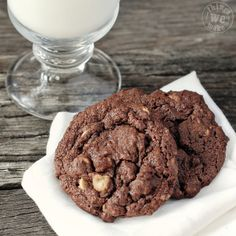 Peanut Butter & Chocolate Chips find a welcome home in these chewy cookies.